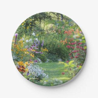 Three Gardens Meet Paper Plate