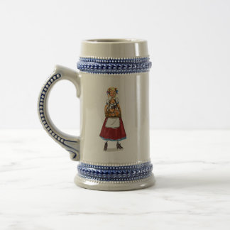 Three German Girls Gray/Blue 22 oz Stein