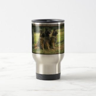 Three German Shepherds Travel Mug