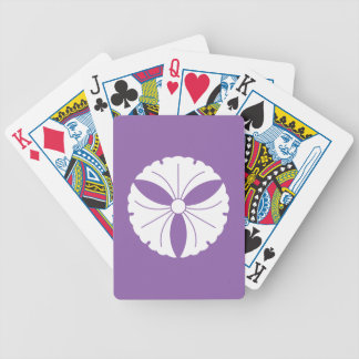 Three ginkgoes bicycle playing cards