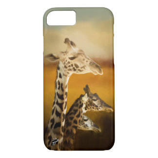 Three Giraffes Photographic Artistic Elegant Case-Mate iPhone Case