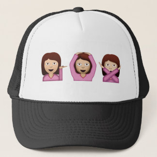 Three Girls Emoji Trucker Hat