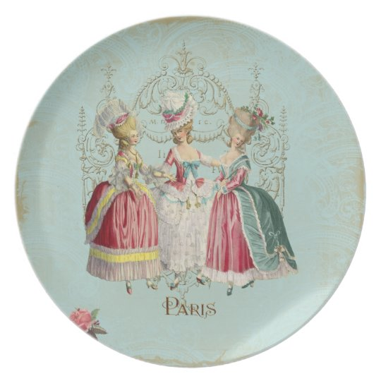 Three Girls in Marie's Court Plate