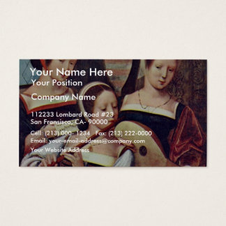 Three Girls Playing Musical Instruments By Meister Business Card