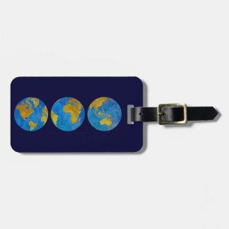 Three Globes Luggage Tag