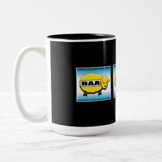Three Gold Baa's Slot Machine Two-Tone Coffee Mug
