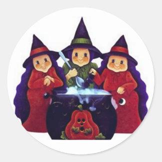 Three Good Witches Round Sticker