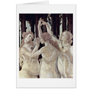Three Graces By Sandro Botticelli Card