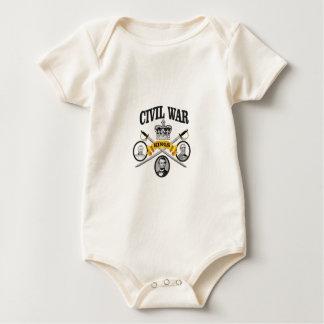 three great leaders of Civil war Baby Bodysuit