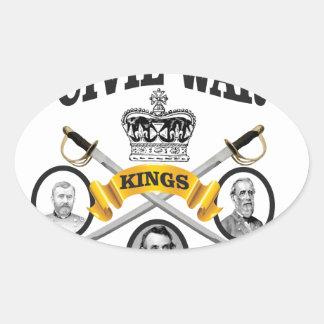 three great leaders of Civil war Oval Sticker