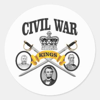 three great leaders of Civil war Round Sticker