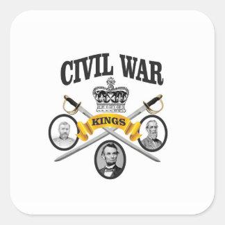 three great leaders of Civil war Square Sticker