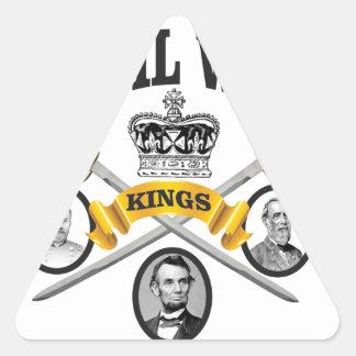 three great leaders of Civil war Triangle Sticker