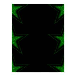 Three Green Stars Postcard
