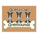 Three Greyhounds Postcard