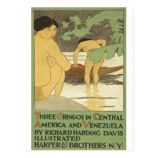 Three gringos in Central America & Venezuela 1898 Postcard