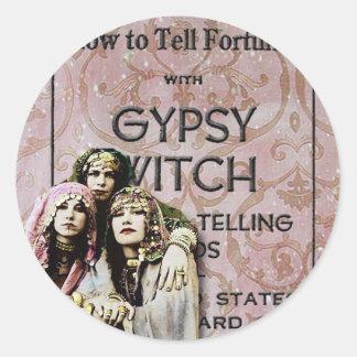 Three Gypsies, altered art Round Sticker