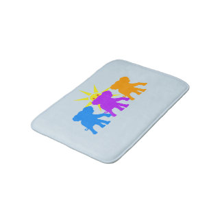 Three Happy elephants Bath Mat