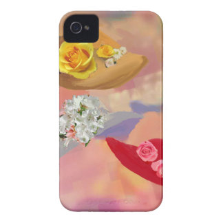 Three hats with flowers iPhone 4 Case-Mate case