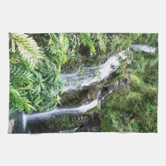Three Hawaiian Waterfalls Towel
