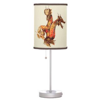 Three Headed Copper Dragon Table Lamp