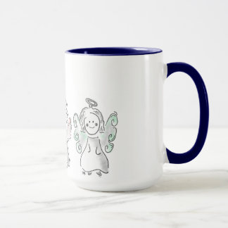 Three Heavenly Friends - angel cup