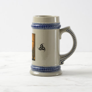 Three horn Fenris and Tyr stien Beer Stein