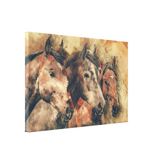 Three Horses Canvas Art