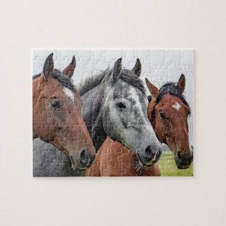 Three Horses Jigsaw Puzzle