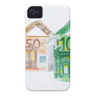 Three houses made of bank notes iPhone 4 cover