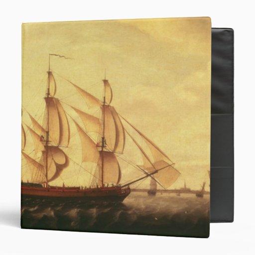 Three Hudson Bay ships in the Thames 3 Ring Binder
