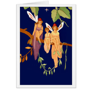 """Three in a Tree"" Greeting Card"