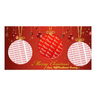 Three Individual Christmas Photo Template