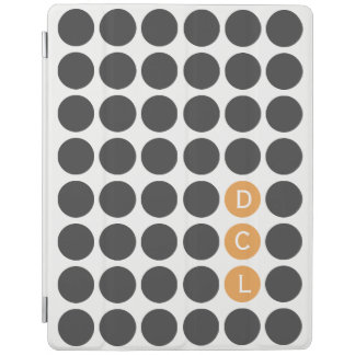 Three Initial Dotted iPad Cover