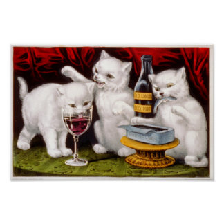 Three Jolly Kittens Poster