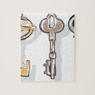 Three Keys Sketch Jigsaw Puzzle