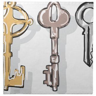 Three Keys Sketch Napkin