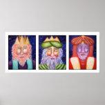 Three Kings Christmas Art Poster