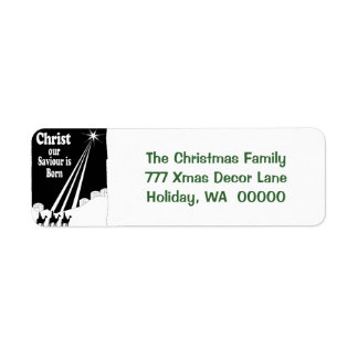 Three Kings Christmas Card Return Address Stickers Return Address Label