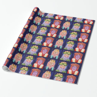 Three Kings Christmas Holiday Art Wrapping Paper