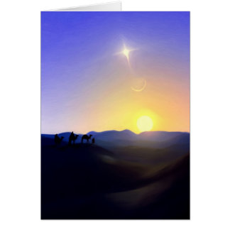 Three Kings Comet Christmas Card
