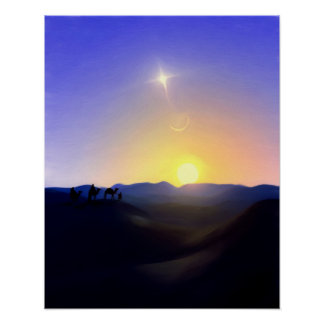 Three Kings Comet Christmas Print