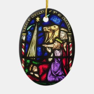 Three Kings Following the Star Ceramic Ornament