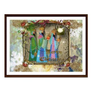 Three Kings Of Orient Christmas Postcard
