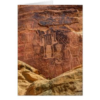 Three Kings Petroglyph - Mcconkie Ranch - Utah Card