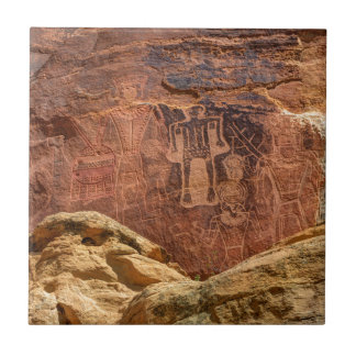 Three Kings Petroglyph - Mcconkie Ranch - Utah Tile
