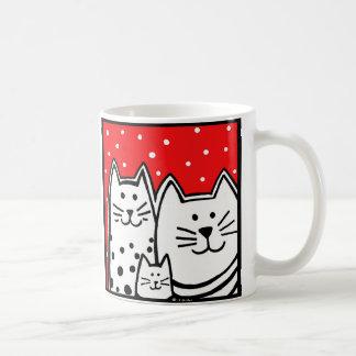Three Kitties Coffee Mug