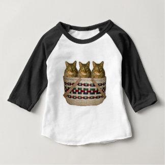 three kitties in a basket tee shirt