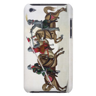 Three knights at a tournament, plate from 'A Histo iPod Touch Covers