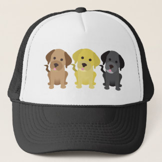 Three Labrador Retrievers Trucker Hat